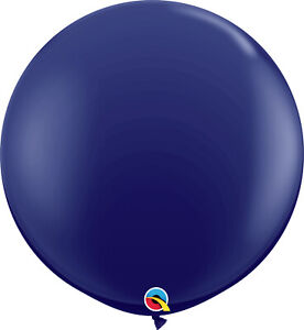 BLUE BALLOONS 3ft (91cm) QUALATEX FASHION NAVY BLUE BALLOONS * TWO BALLOONS *