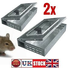 2x ratón trampa humana Metal Multi Live capturas 10 ratones control de plagas Reutilizable