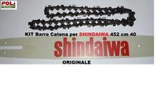 "SHINDAIWA 452S BARRA 40CM + CATENA DA 325"" 66 MAGLIE ORIGINALE SHINDAIWA"
