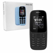 BRAND NEW NOKIA 105  VERSION NEW SHAPE/LOOK WITH FM - TORCH (BLACK)