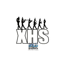 HIGH SCHOOL BAND Vinyl Sticker CUSTOMIZED Initials ADD NAME OPTION MARCHING