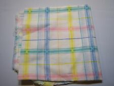 Vintage Plaid Remnant Sewing Arts & Crafts Fabric