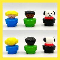 Mattel Retro Little People Figures & Vehicles Lot