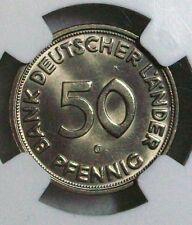 Bank Deutscher Länder BDL 50 Pfennig 1950 G NGC MS-66 PERFEKT!