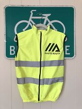 SMALL (S) Unisex Cycling Vest w/ Reflective Stripes - fluorescent (neon) yellow