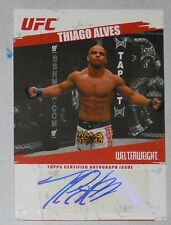 Thiago Alves Signed UFC 2009 Topps Card #FA-TA Autograph 48 78 85 90 100 124 183