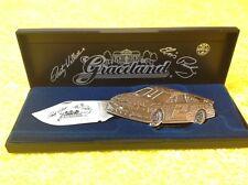 1998 Rare Silver Collector Knife Nascar Rusty Wallace Elvis Presley Signed COA