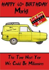 personalised birthday card Only Fools And Horses Independent traders van