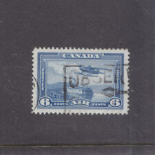 CANADA-1937-6c AIR MAIL-SG 371-FINE USED-$4-freepost