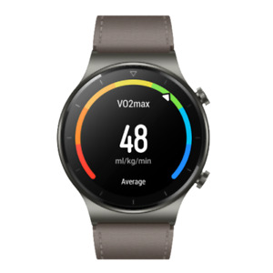 Huawei Watch GT2 Pro Leather 46mm Titanium Sapphire Glass Smartwatch Nebula Gray