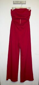 Whyte Valentyne Tube Jumpsuit Size 6 Red Cut Away Valentine Outfit