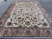 Old Traditional Hand Made Persian Rug Oriental Wool Cream Large Carpet 390x290cm