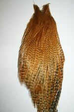 Barred Ginger Rooster Neck Cape Fly Tying Fishing Hackle Feathers Materials 30