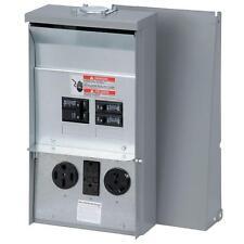 50 Amp 3-Space 3-Circuit 120/240-Volt Unmetered RV Outlet-Box 50/30/20-Amp GFCI