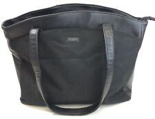 US Luggage New York Large Tote Travel Computer Carry On Bag Black Nylon EUC