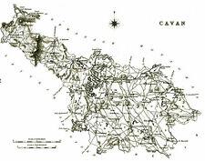 Large map of County Cavan, Ireland, C1840.