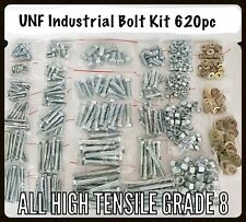 620 PC Grade 8 High Tensile Industrial Farm Kit UNF Imperial Bolt,Nut & Washer