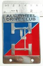 4 WHEEL VINTAGE LAND ROVER CLUB badge DEFENDER FOR SALE  CLASSIC series 1 2 3 a