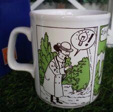 tintin tasse mug  tournesol planta 1980 très bon état hergé