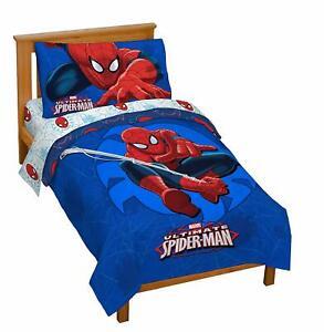 New Marvel Spiderman 'Regulator' Toddler 4 Piece Bed Set Fast Shipping