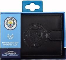 Manchester City FC RFID Anti Fraud Leather Wallet Official Accessories