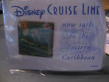 DISNEY CRUISE LINE SQUARE PIN ON CARD NOW SAILS TO THE EASTERN CARIBBEAN NEW