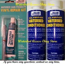 2 BLUE MAGIC Premium All Purpose Waterbed Conditioner & Vinyl Repair Patch kit