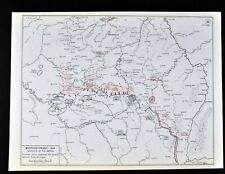West Point WWI Map Western Front Battle of Marne Campaign Paris France Germany