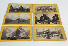 Early Switzerland & France Stereoview Lot Mountains Glaciers Falls Churches Etc