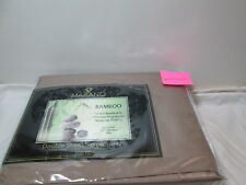 New Marano Bamboo Fiber Double Sheet Set ~ 300 Thread Count ~  Khakki Brown NIP