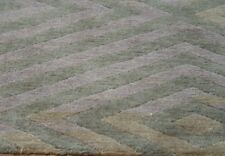 """Excellent Tibetan Hand-Knotted Wool Green Oriental Area Rug  7'10"""" X 9'5"""""""