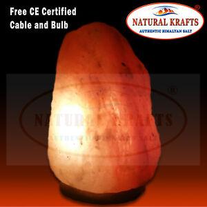 Himalayan Salt Lamp X Large Salt Lamp Rock Pink Crystal 12-15 KG Free Cable Bulb