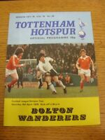 08/04/1978 Tottenham Hotspur v Bolton Wanderers [Division 2 Season] (creased, te
