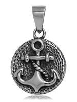 925 solid Sterling Silver Navy Boat Sail Navigation Nautical Anchor pendant