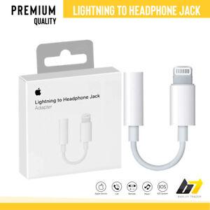 Genuine Lightening to 3.5mm Headphone Jack AUX Adapter Apple iPhone 7 8 X 11 12