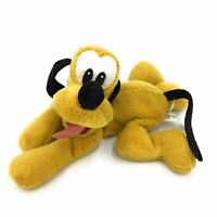 "Pluto Dog Soft Toy With Offical Disney Stamp On Foot 11"" Long - Mickey Mouse"