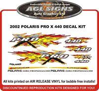 2002 POLARIS 440 PRO X Decal Kit Reproduction graphics  600 800 also available