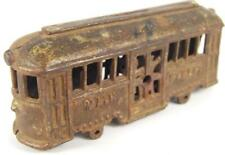 antique cast iron train trolley car Ac Williams Main Street parts