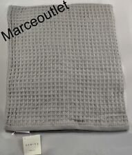 "Uchino Air Waffle Cotton One Bath Towel 30"" x 60"" Gray"