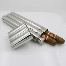UK_ 2 CIGAR + LIQUID WINE FLASK TUBES STAINLESS STEEL CASE HOLDER MEN GIFT  ALLU