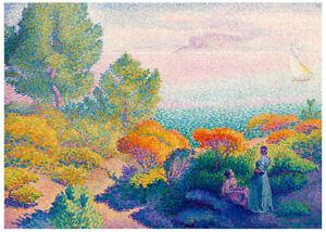 Henri Edmond Cross - Two Women by the Shore Mediterranean