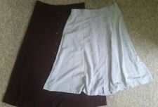 2 x Target size 16 a-line skirts button front burgundy blue