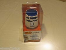 Star Wars Ihome R2 D2 RARE wireless rechargeable speaker bluetooth I home NEW