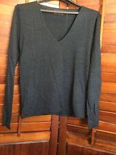 ZADIG & VOLTAIRE Dark Gray Merino Wool Sweater Size L