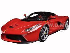 FERRARI LAFERRARI F70 RED SILVER WHEELS 1:18 DIECAST MODEL CAR BY BBURAGO 16001