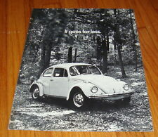 Original 1971 Volkswagen VW Beetle Sales Brochure