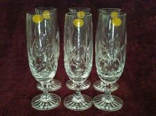 Crystal Champagne/Wine Goblets - Set of 6 - Made in Poland - NEW - FREE SHIPPING