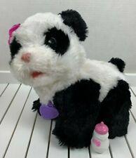 Fur Real Friends Pom Pom My Baby Panda Bear Interactive Plush Doll Toy Bottle