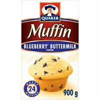 QUAKER MUFFIN MIX - BLUEBERRY BUTTERMILK 900g-2lbs x 6 BAGS- FRESH FROM CANADA