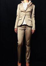 SHI Beige Slim Fit Designer Jacket /Lined Blazer Made in Italy Size 42 / S